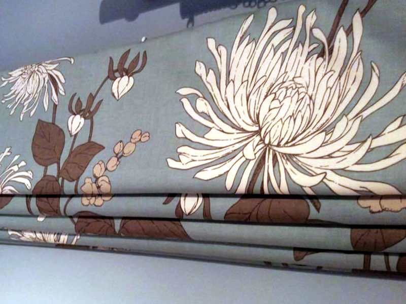 recent work flowered blinds