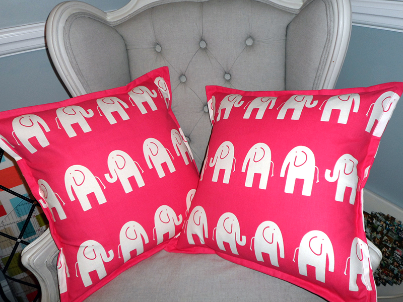 recent work elephant cushions